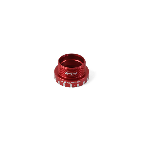 24mm Bottom Bracket Drive Side Cups - Red