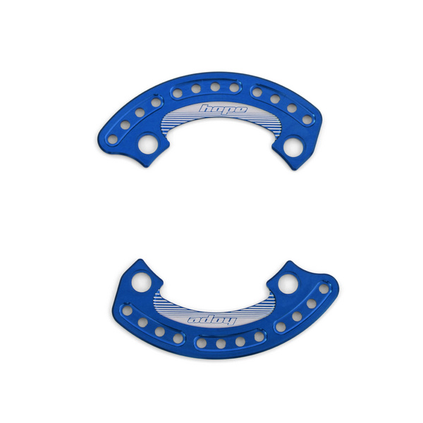 1/4 Bash Plate 104mm Blue - Pair