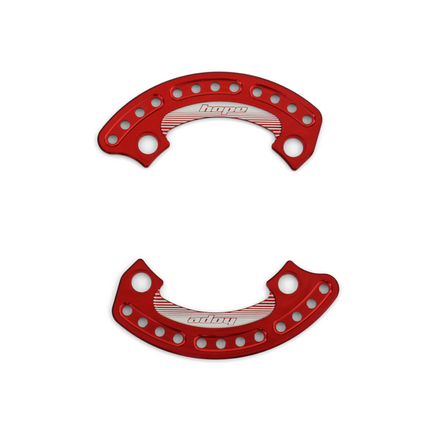 1/4 Bash Plate 104mm Red - Pair