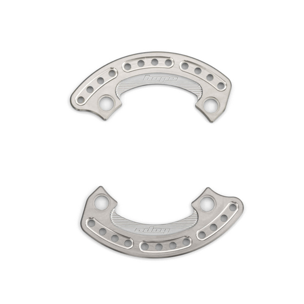 1/4 Bash Plate 104mm Silver - Pair