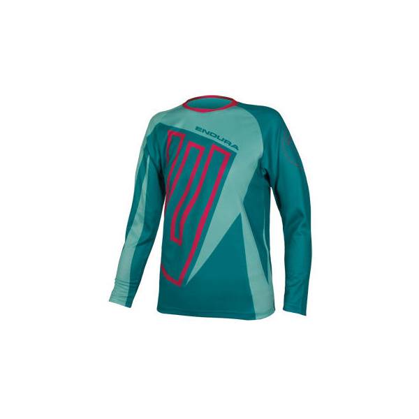 Endura Endura Kids MT500JR L/S T: Teal - 9-10yrs