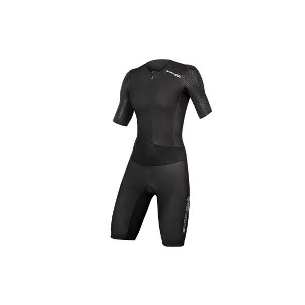 Endura Endura Wms QDC D2Z S/S Tri Suit II with SST: Black - L