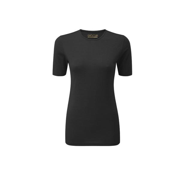 Womens Short Sleeve Baselayer, Black