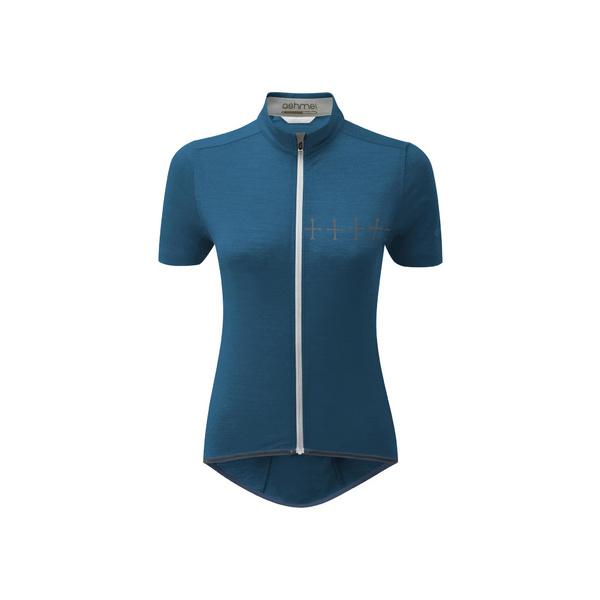 Womens Cycle Croix De Fer Jersey, Teal