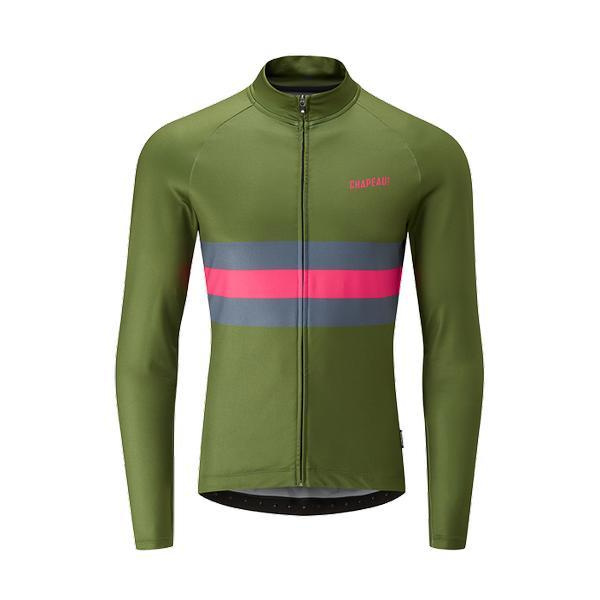 Chapeau! Mens Tempo Hoop Stripe LS Thermal Jersey