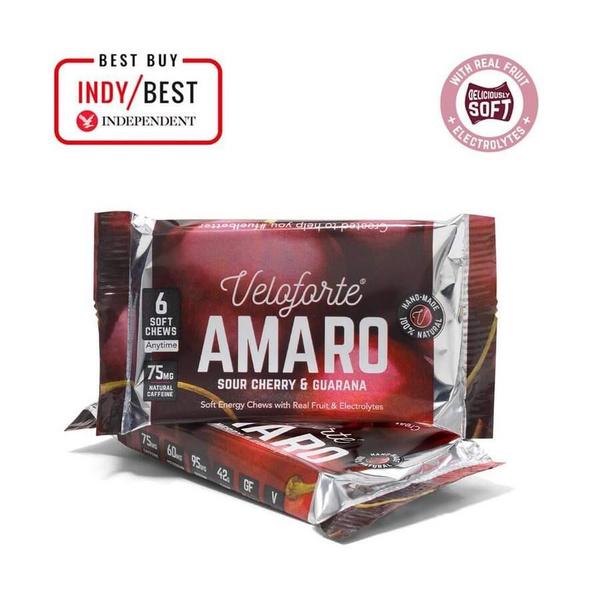 Veloforte Amaro Energy Chews Sour Cherry & Guarana 50g