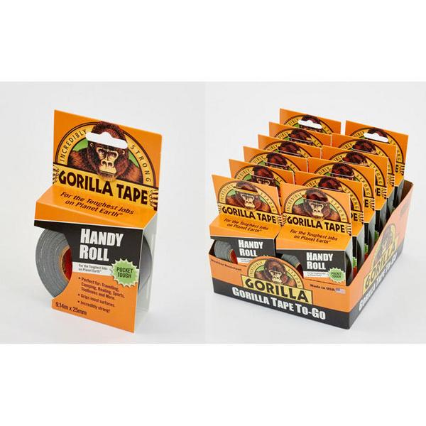 Gorilla Tape Handy Roll 9.1m x 25mm Pk 12