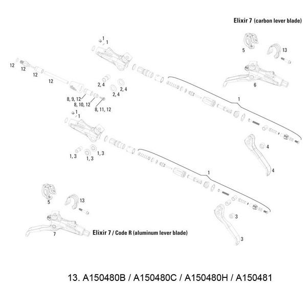 Avid Discrete Bar Clamp/Bolt Elixir 9/7/CR Mag/X0/XX (Ti T25 Bolt) Silver (1 pc)