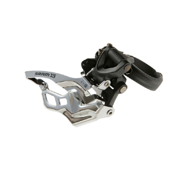 SRAM X5 FRONT DERAILLEUR - 2X10 LOW CLAMP 31.8/34.9 BLACK DUAL PULL