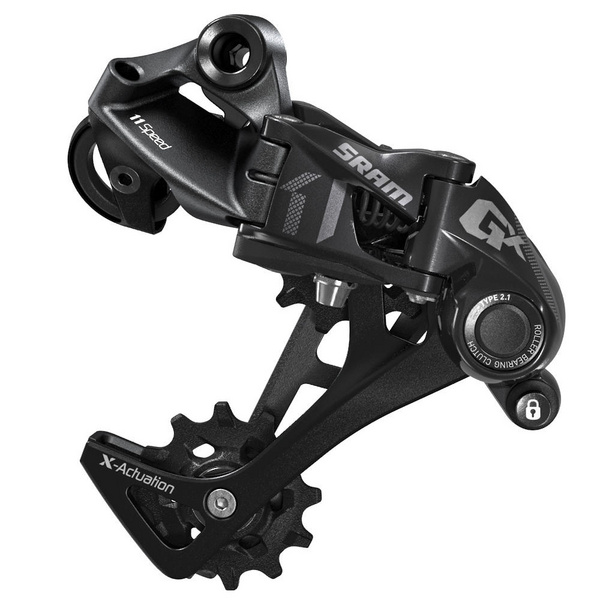 SRAM REAR DERAILLEUR GX 1X11-SPEED LONG CAGE: BLACK 11SPD LONG