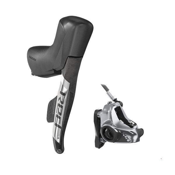 SRAM SHIFT/HYDRAULIC DISC BRAKE RED ETAP AXS D1 STEALTHAMAJIG CONNECTED (UK) 12-SPEED REAR SHIFT FRONT BRAKE 950MM W/ DIRECT MOUNT TI HARDWARE (ROTOR & BRACKET SOLD SEPARATELY): BLACK