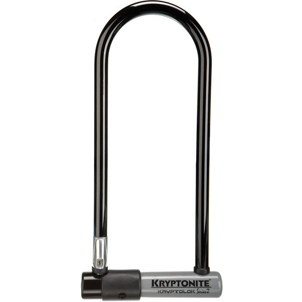 KryptoLok Series 2 long shackle U-lock with with FlexFrame bracket