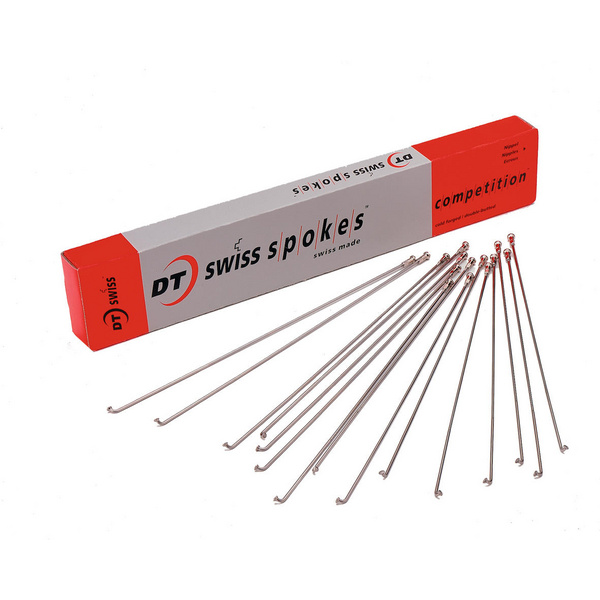Competition silver spokes 14 / 15 g = 2 / 1.8 mm box 100
