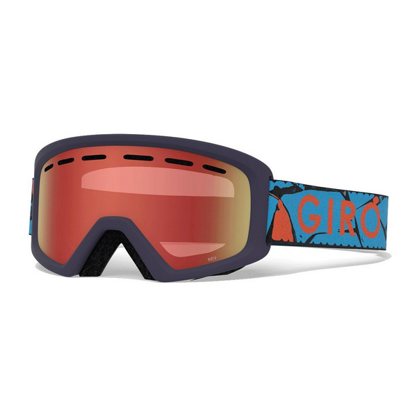 GIRO REV YOUTH SNOW GOGGLE 2019: BLACK ZOOM/AMBER SCARLET