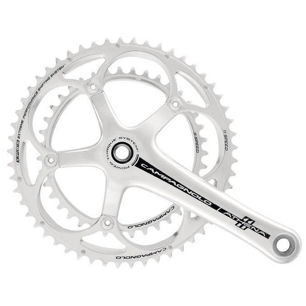 Campagnolo ATHENA SILVER Crankset Power Torque System 11spd 175mm 53-39t