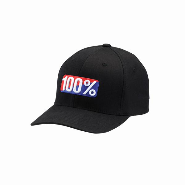 100% Classic Flexfit Hat Black L / XL
