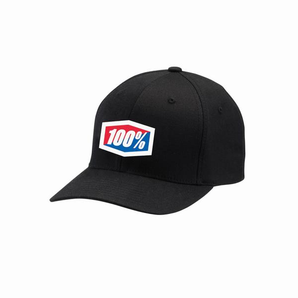 100% Official Flexfit Hat Black L / XL