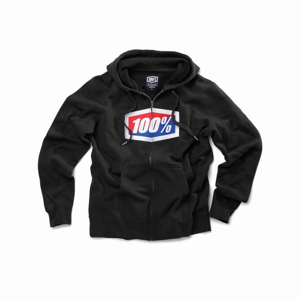 100% OFFICIAL Zip Hooded Sweatshirt Black XXL