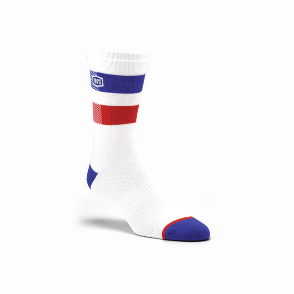 100% FLOW Performance Socks White L / XL