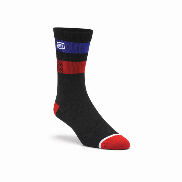 100% FLOW Performance Socks Black L / XL