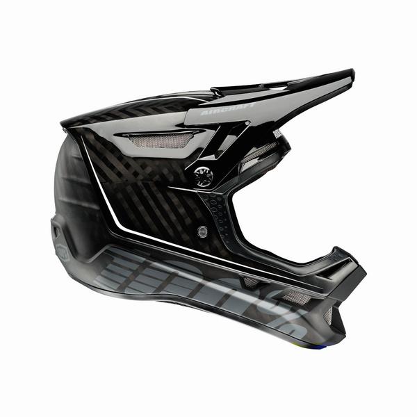 100% Aircraft Carbon Helmet Fusion Ripper Navy XS