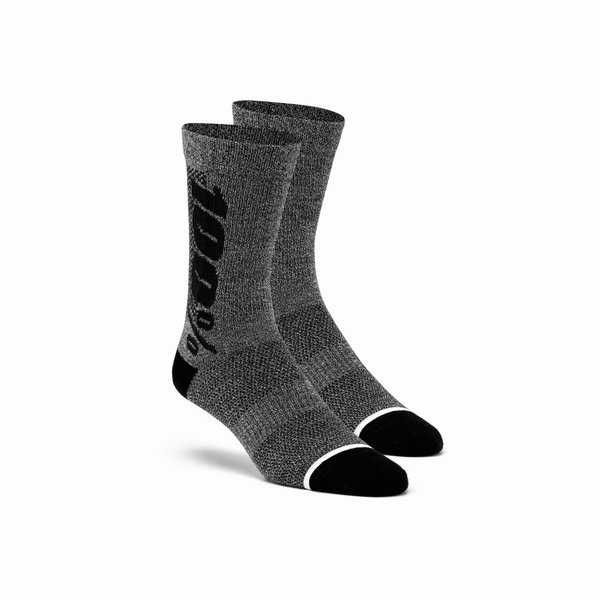 100% RHYTHM Merino Wool Performance Socks Charcoal L / XL