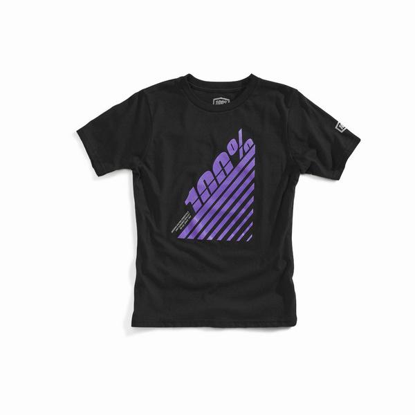 100% EURA Youth T-Shirt Black L