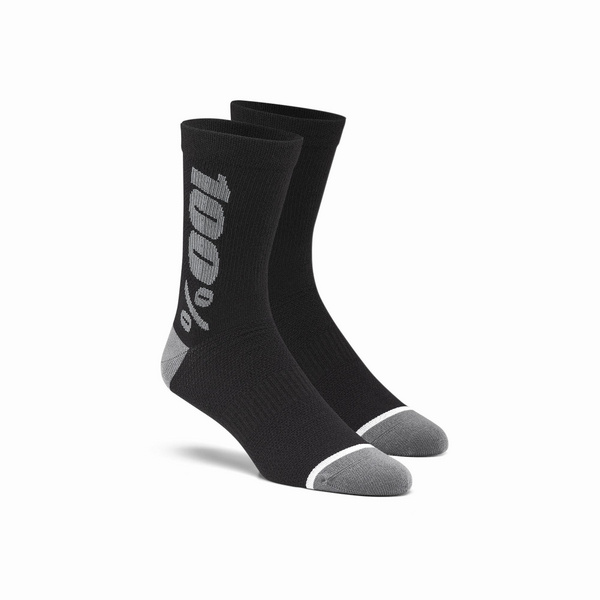 100% RHYTHM Merino Wool Performance Socks Black / Grey L / XL