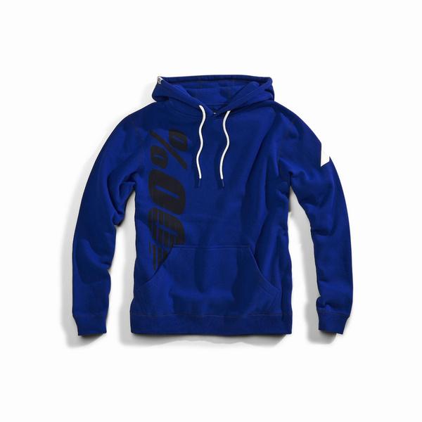 100% Arcane Hooded Pullover Sweatshirt Blue M