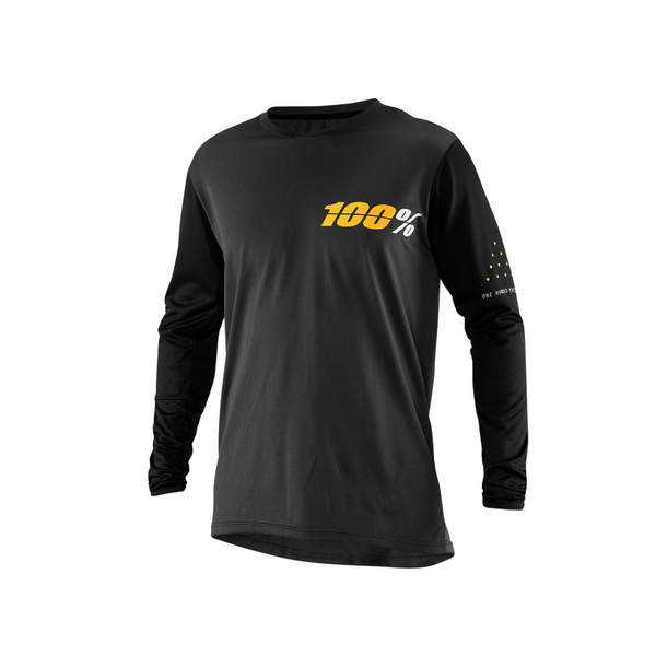 100% Ridecamp Long Sleeve Jersey Charcoal XL