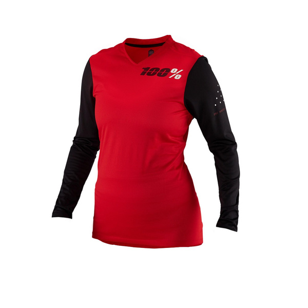 100% Ridecamp Women's Long Sleeve Jersey Red XL