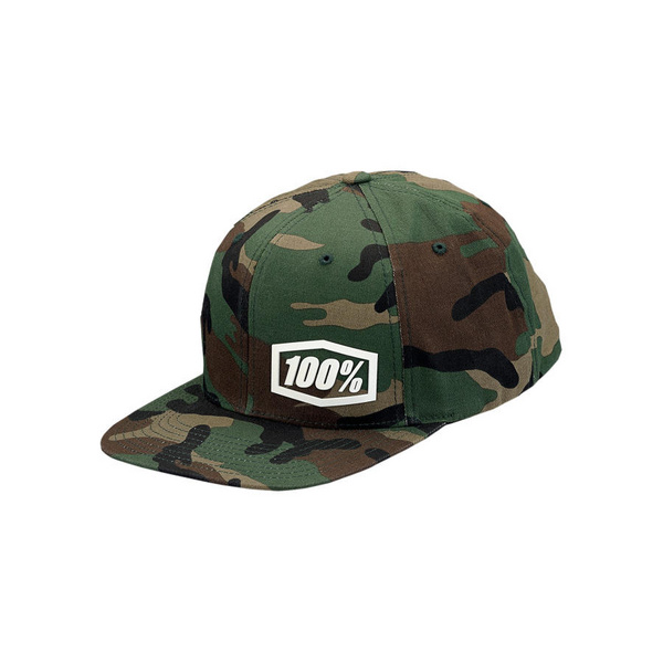 100% Machine Snapback Hat Camo