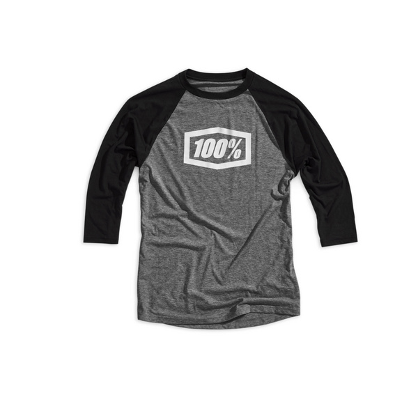 100% Essential ¾ Tech Tee Grey / Black XL