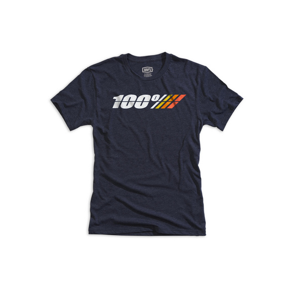 100% Motorrad Youth T-Shirt Navy Heather L