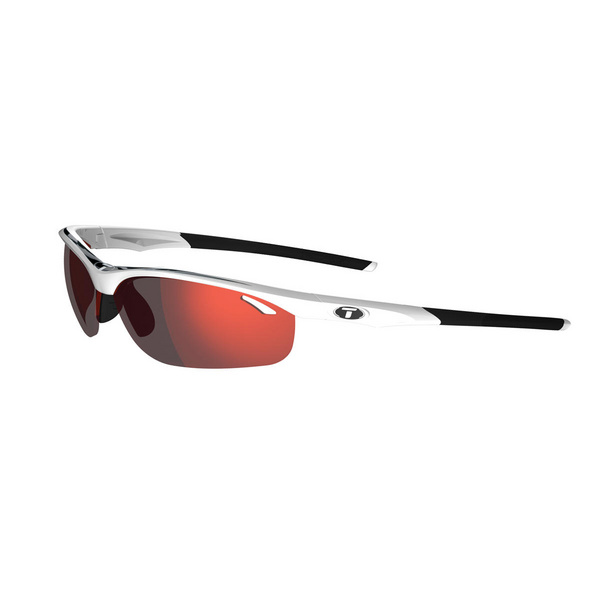 TIFOSI VELOCE WHITE/BLACK INTERCHANGEABLE CLARION RED LENS SUNGLASSES