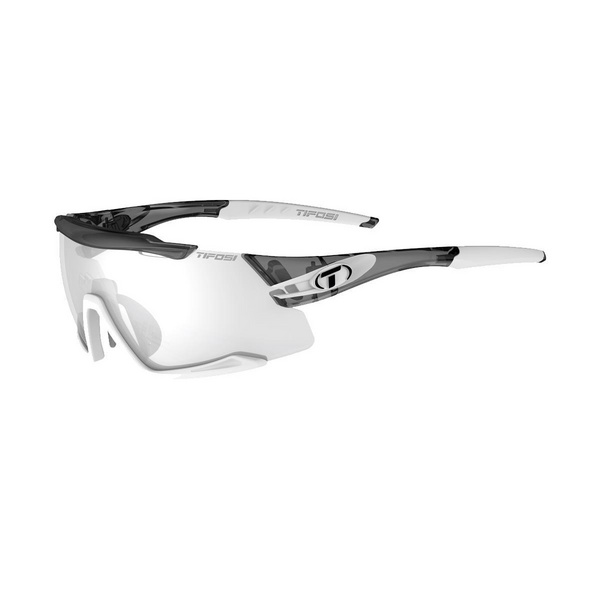 TIFOSI AETHON FOTOTEC SINGLE LENS SUNGLASSES 2019: CRYSTAL SMOKE/WHITE/FOTOTEC LIGHT NIGHT