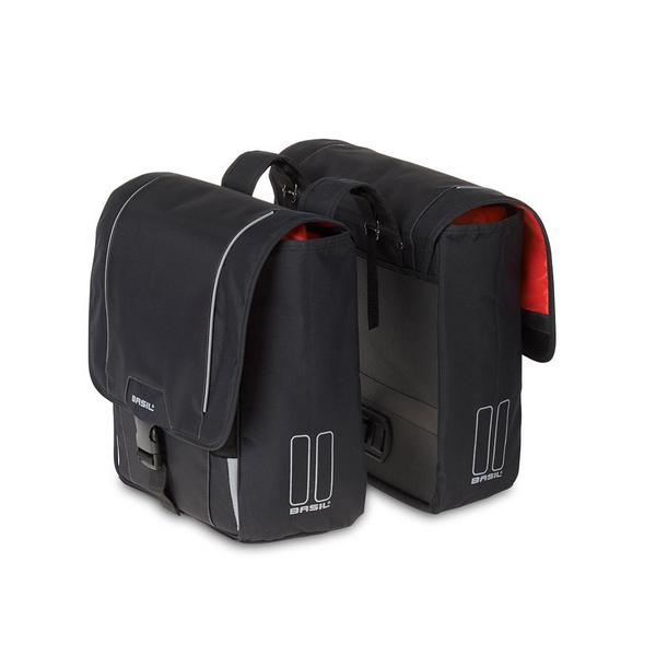 Basil Sport Design Double Panier Bag Black 32L