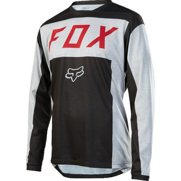 Fox Men's Indcator LS Moth Jersey [LT GRY] XL