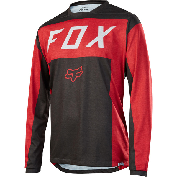 Fox Men's Indicator LS Moth Jersey S [RD/BLK]