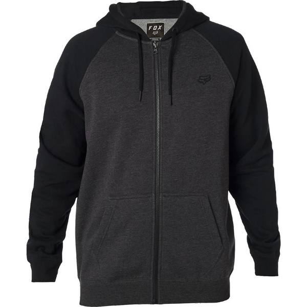 LEGACY ZIP FLEECE [BLK/CHAR]