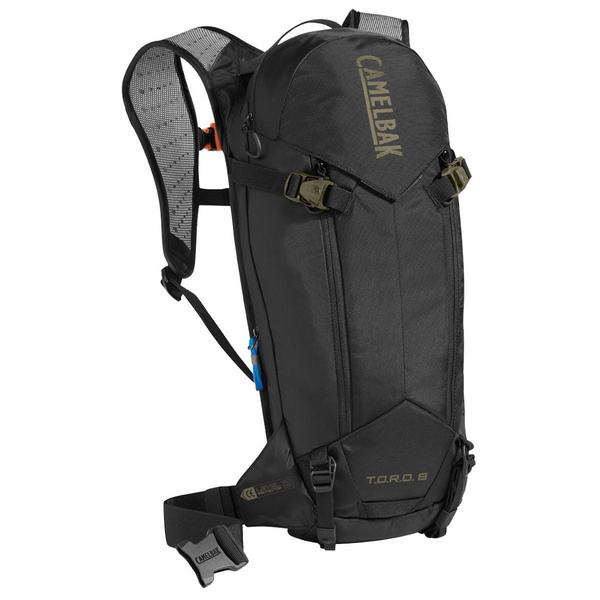 CAMELBAK TORO PROTECTOR 8 DRY HYDRATION PACK 2018: BLACK/BURNT OLIVE 8L/280OZ